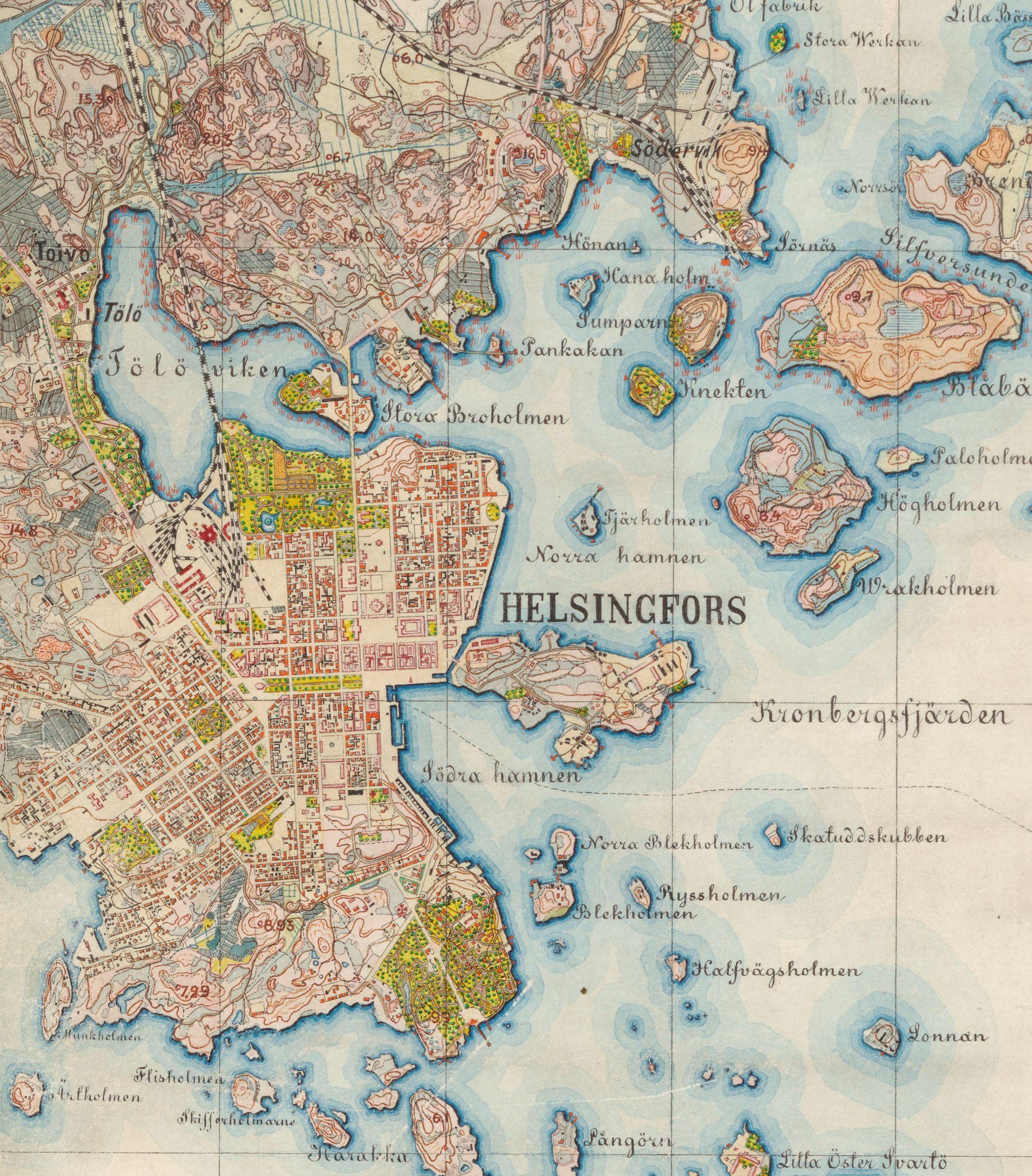 Helsinki 1872 73 Keskustaa Histdoc Net Helsinki