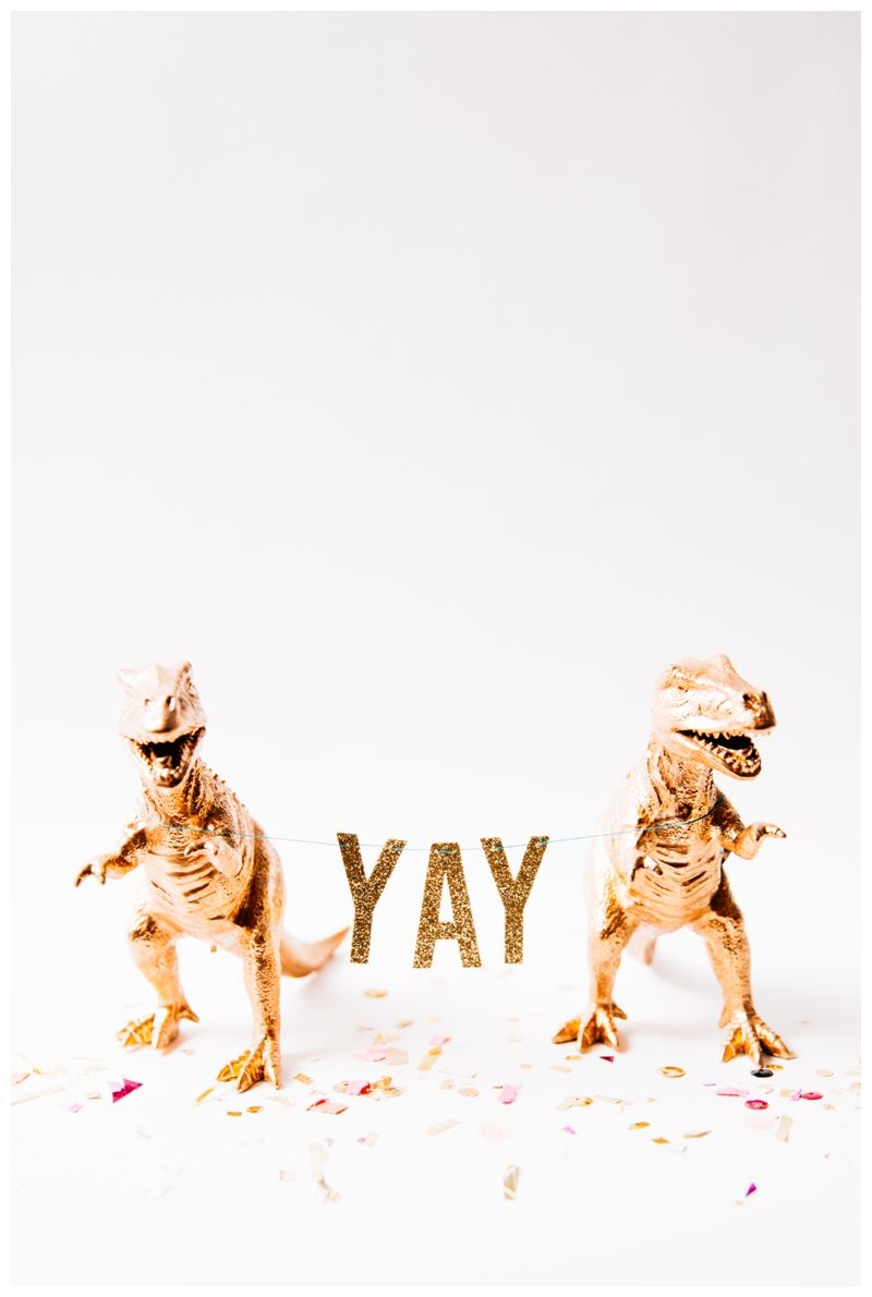 The Bubble Joy . { YAY for party inclined gold dinosaurs. }