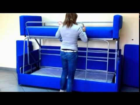 Swell Amazing Sofa To Bunk Bed Transformation Youtube Diy Creativecarmelina Interior Chair Design Creativecarmelinacom