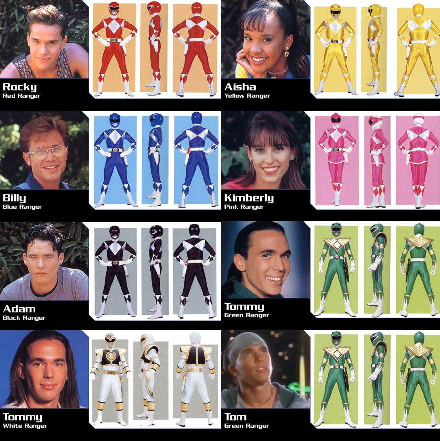 Mighty Morphin Power Rangers Season 2 Power Rangers Pinterest