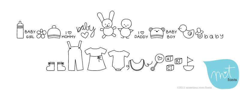 MTF Itty Bitty Baby | G R A P H I C S | Doodle fonts, Cute fonts