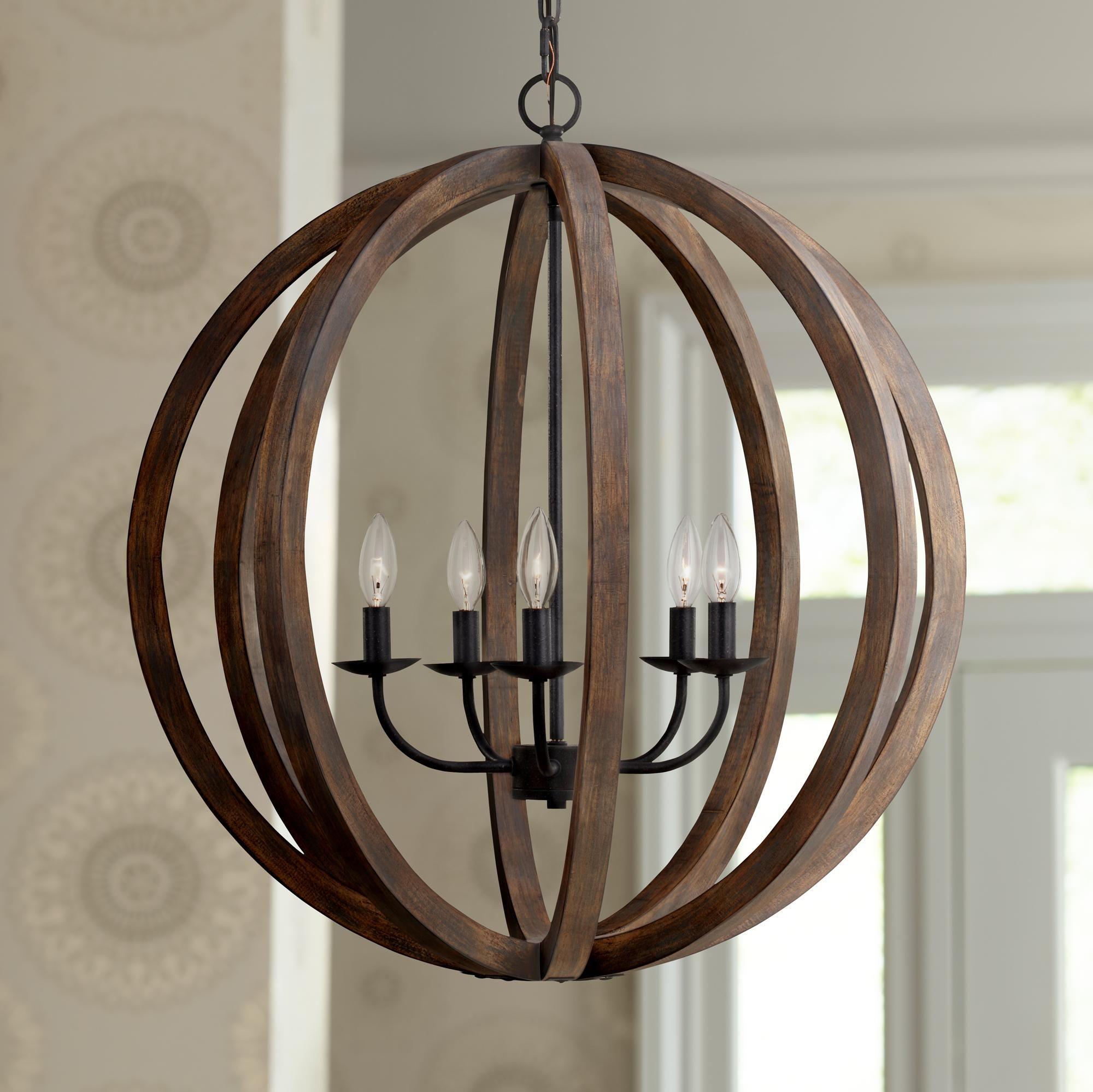 Feiss allier 26w weathered oak wood orb pendant light pendant orb chandelier feiss allier 26 wide weathered oak wood pendant light arubaitofo Gallery