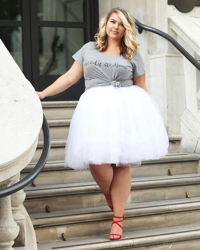Plus Size Clothing For Women Society Premium Tutu White Sizes