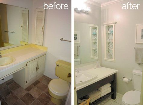 Small Bathroom Remodel Before And After Click Here To Have Astrong Construction Remodel Your