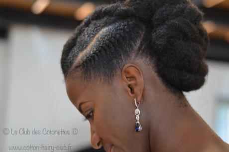 Coiffure mariage cheveux naturel