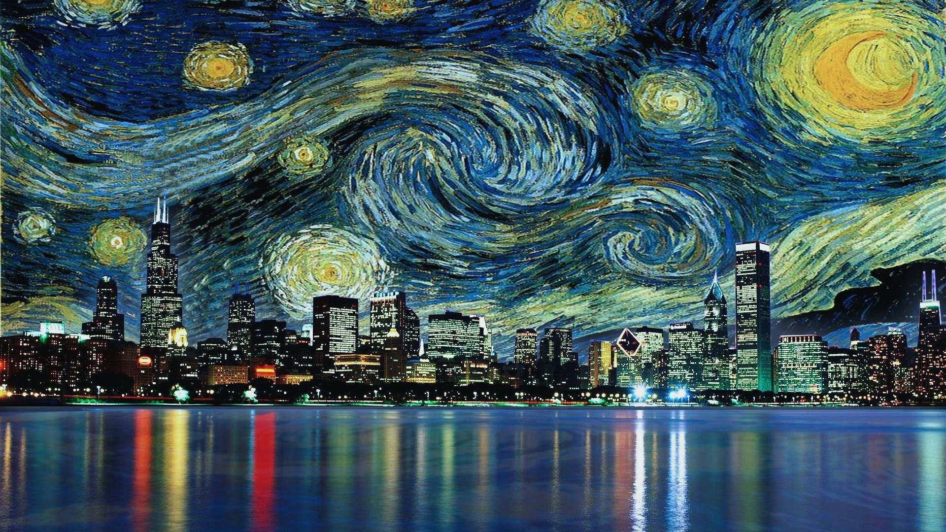 Vincent Van Gogh The Starry Night Wide Wallpaper Hd Wallpapers 1920x1080 Px 616 26 Kb Starry Night Van Gogh Starry Night Wallpaper Gogh The Starry Night