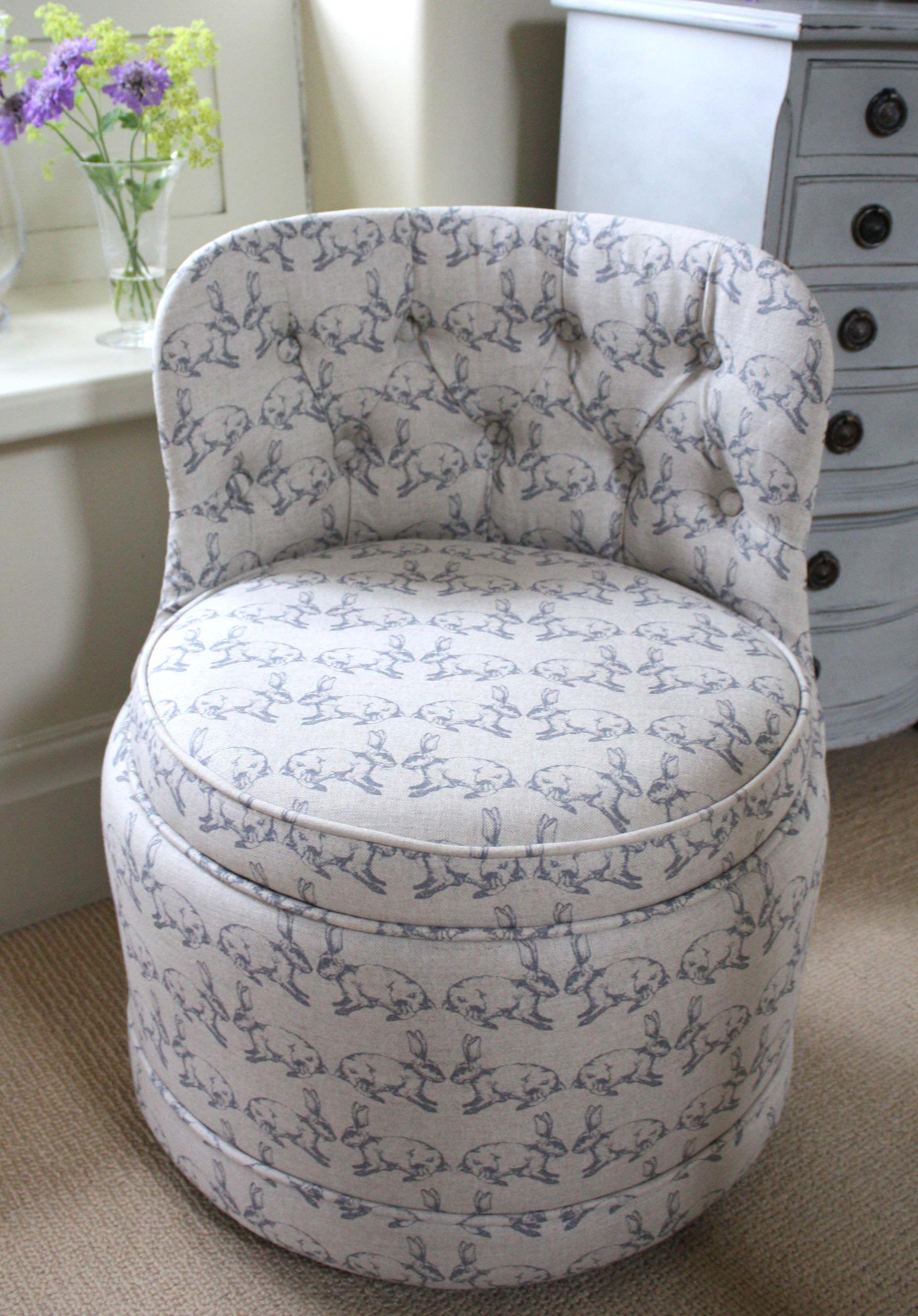 sold nursery bedroom chair upholstered in rabbits linen fabric rh pinterest com