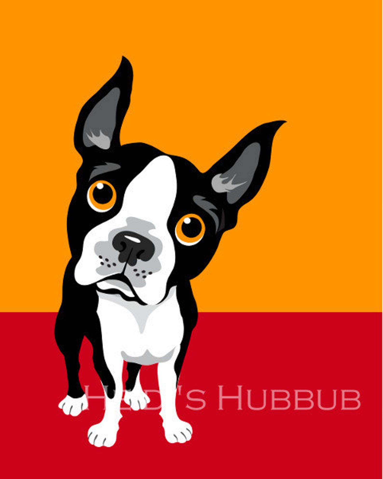 Colorblock Dog Prints Set Of 6 Etsy In 2020 Boston Terrier Illustration Dog Poster Dog Print Art