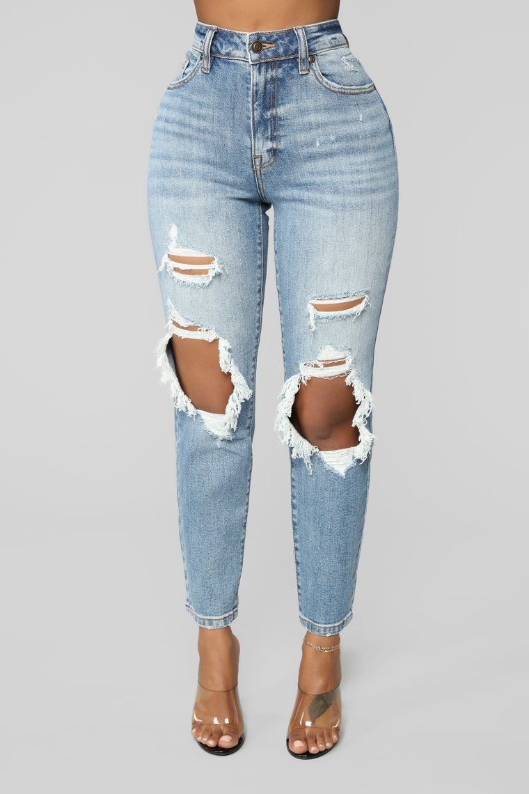 affd1c5d828 Feeling You Feeling Me Girlfriend Jeans - Light Blue Wash in 2019 ...