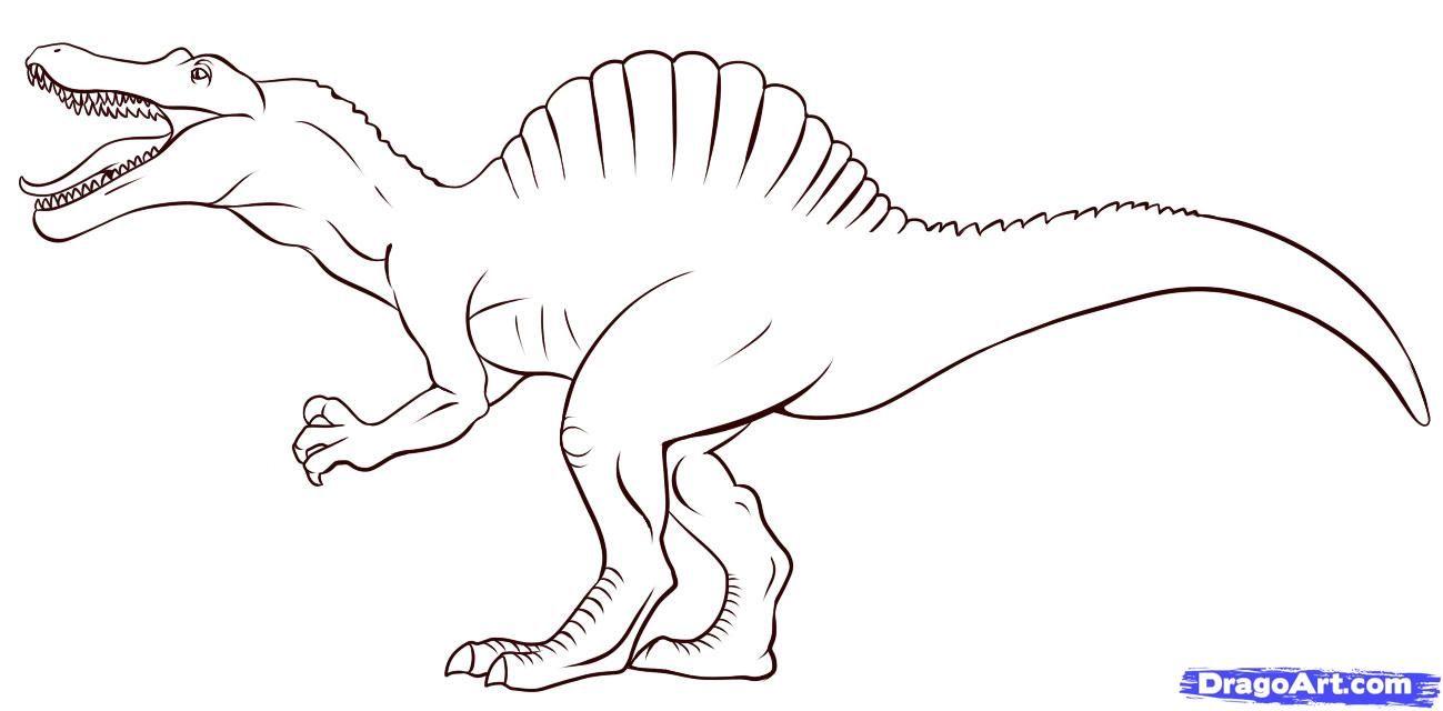 Spinosaurus Dinosaur Coloring Pages Dinosaur Coloring Spinosaurus