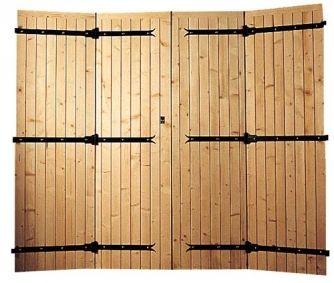 porte de garage 4 vantaux 27 mm bois du nord porte. Black Bedroom Furniture Sets. Home Design Ideas