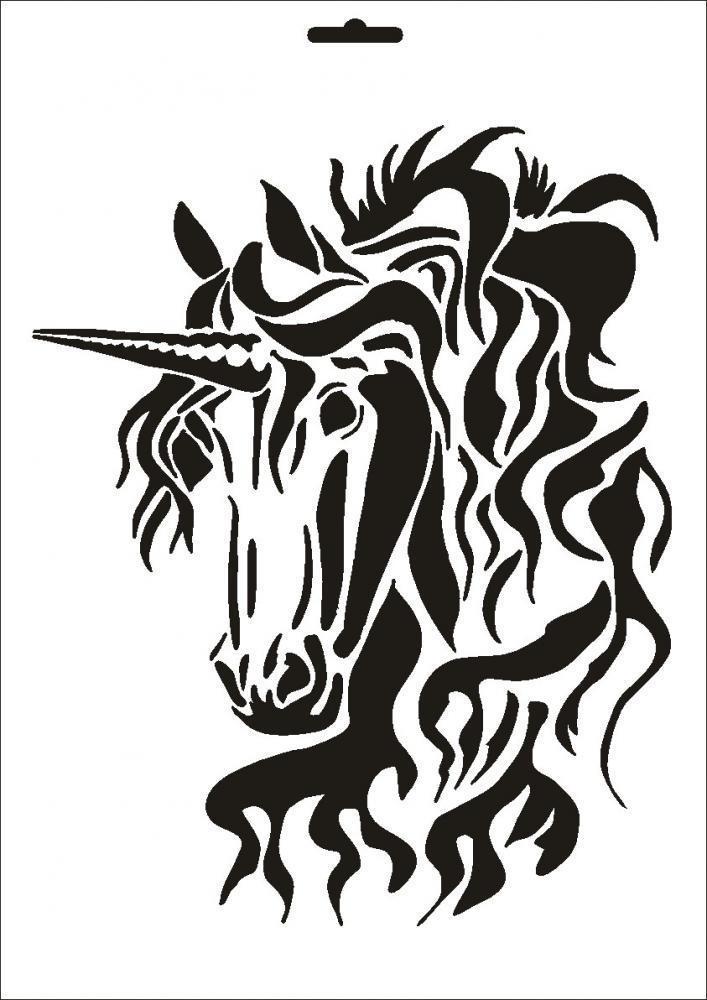 $4 9 - Stencil W-069 Unicorn Umr Wall Stencil #ebay #Home & Garden