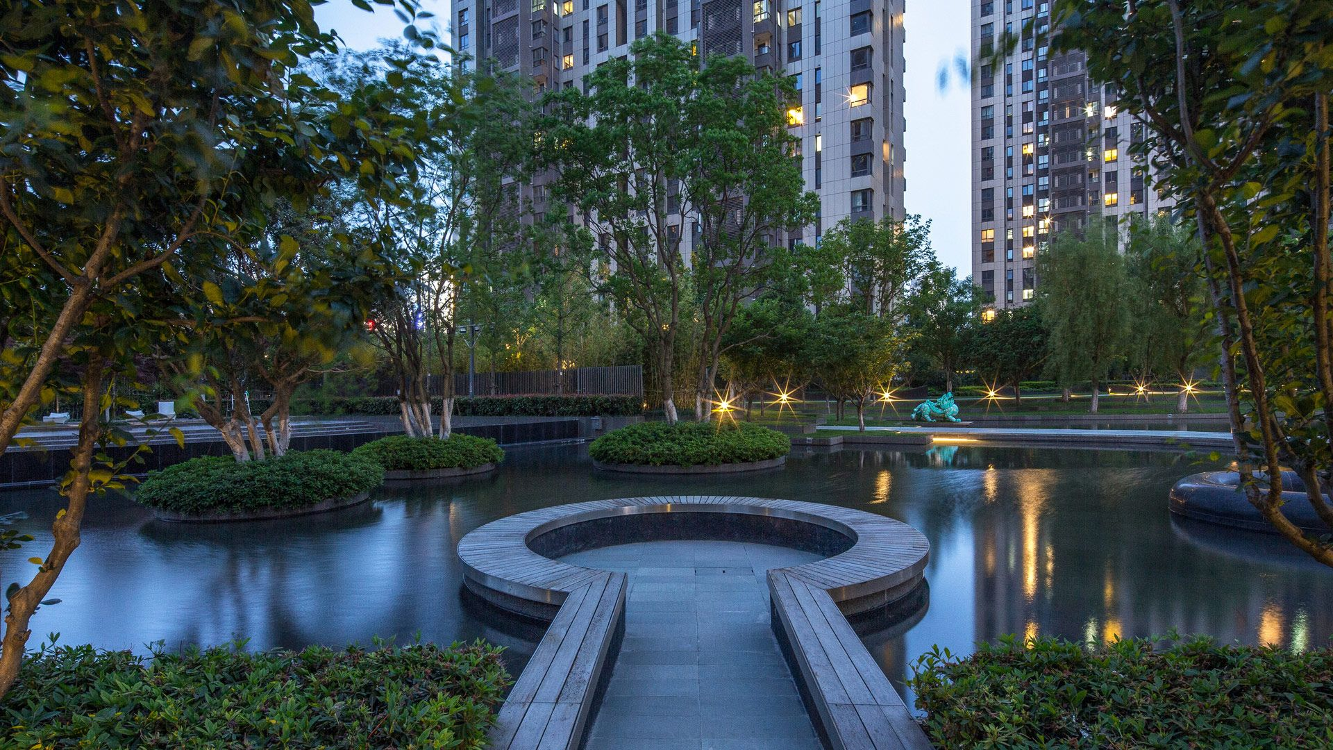 The Apartment Complex Is Set On A Completely Flat Plain To The East Of The Yangtze River Yet On A Site To Landscape Architecture Landscape Landscape Architect