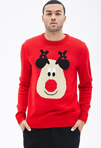 Ugly Christmas Sweater Men.Light Up Reindeer Sweater 21 Men F21men Forever 21