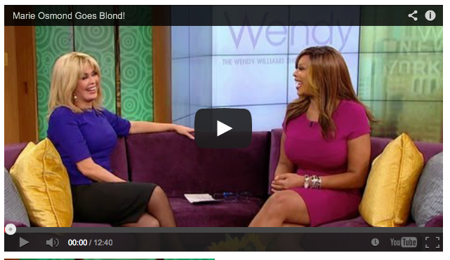 Marie Osmond Goes Blond! on Wendy Williams Show and talks about her partnership with Wise Food Storage & Marie talks hair wigs and prepping with Wendy Williams! | Marie ...