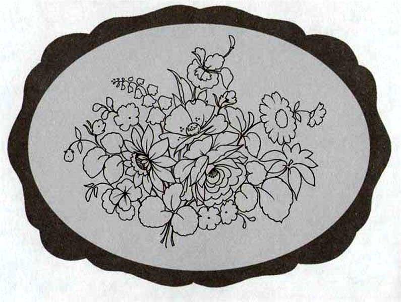 жостовская роспись черно белые картинки большая семья