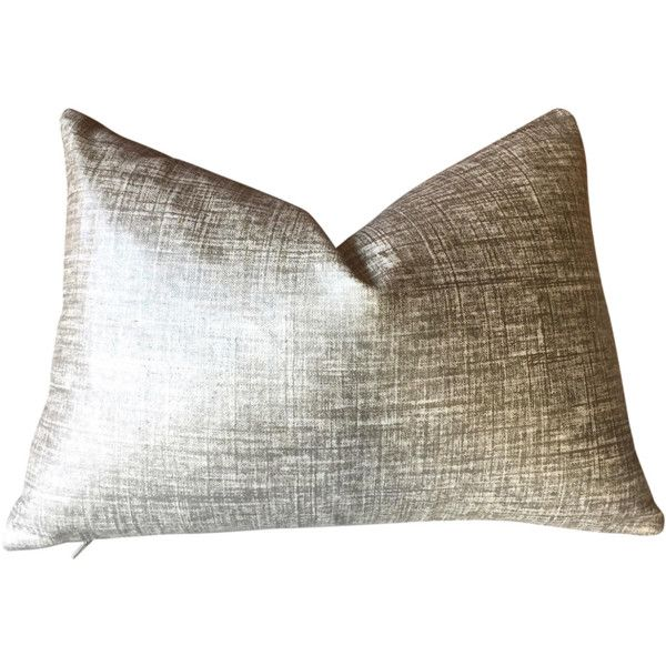 Solid Metallic Pillow Cover In Platinum Silver Teal Silver Or 24 Liked On Pillows Decorative Patterns Pillow Decorative Bedroom Blue Pillows Decorative