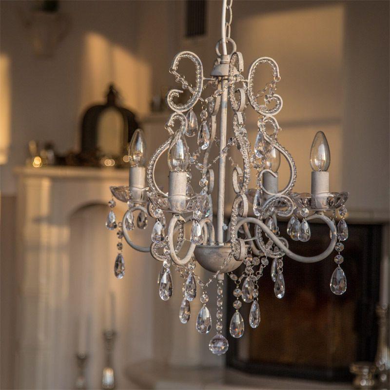 kronleuchter castle 4armig aus metall l ster deckenleuchte deckenlampe antikgrau chandelier. Black Bedroom Furniture Sets. Home Design Ideas