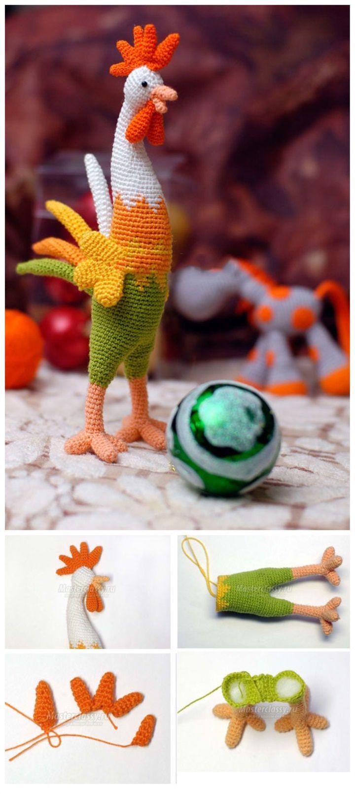 Amigurumi Rooster Crochet   Crocheted Birds   Pinterest   Patrón ...
