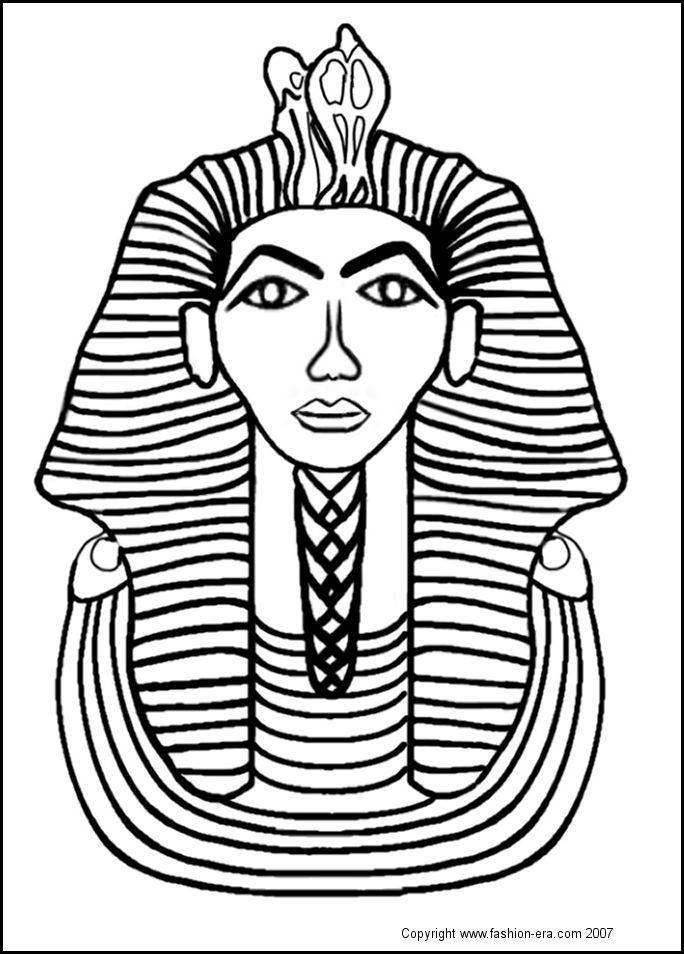 Egyptain Patterns To Color Tutankhamun Was In His Teens When He