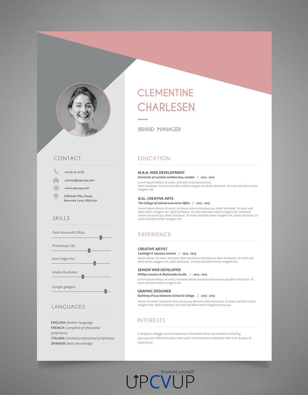 Exemple CV Attractif à télécharger format word cv
