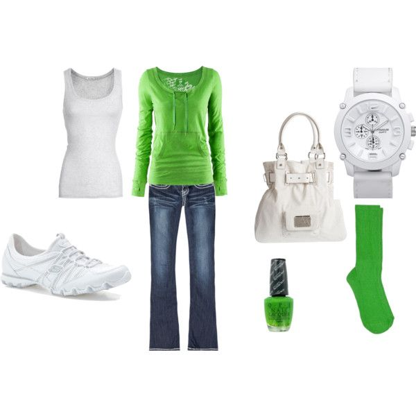 Casual green...