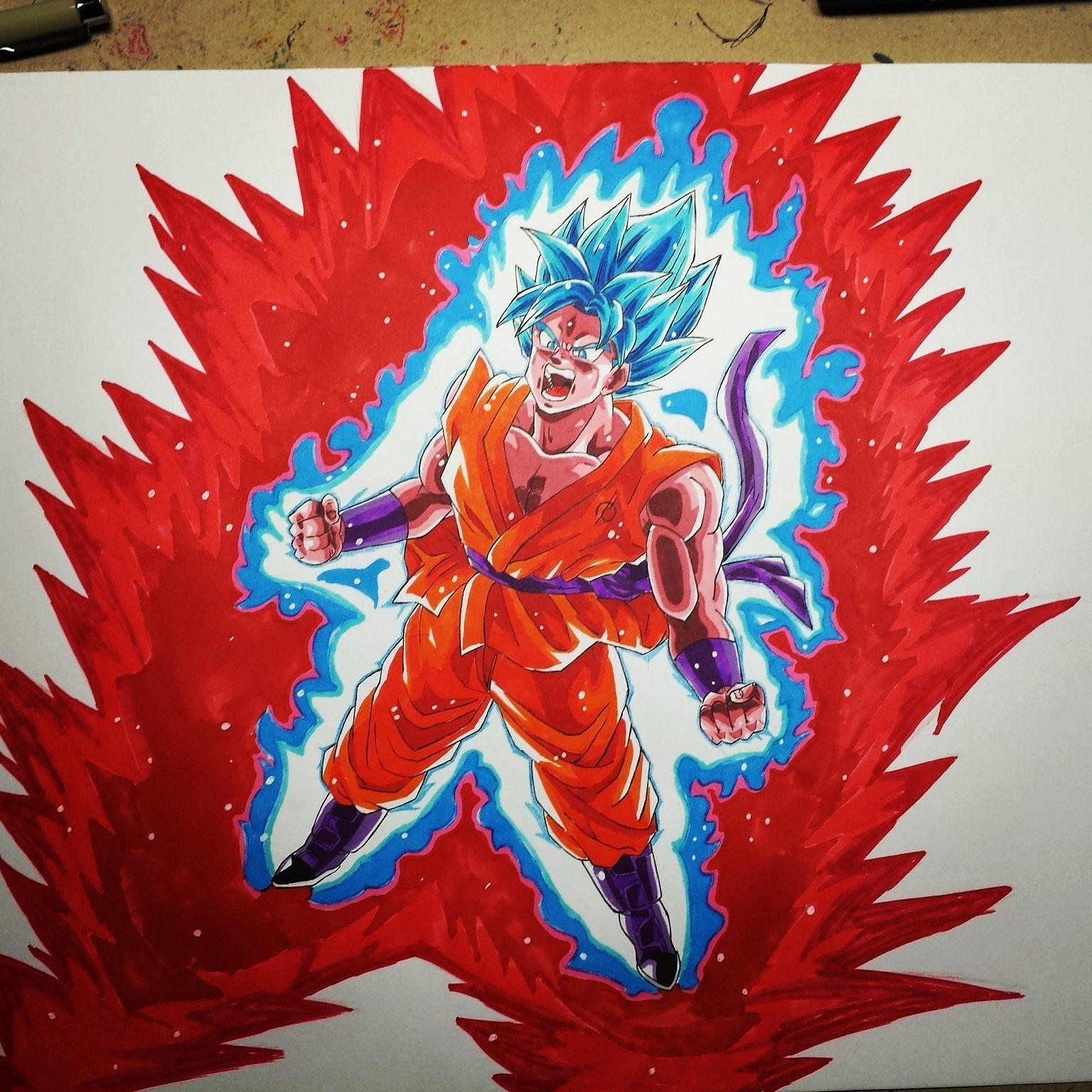 Goku Ssgss Kaioken X10 Goku Dragon Ball Super Dragon Ball