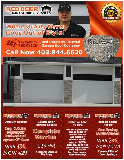 Red Deer Garage Door Services Flyer Garage Service Door Garage Door Company Garage Doors