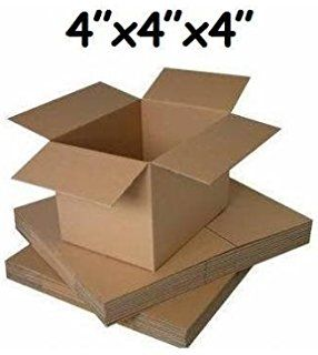 25 X Small Mailing Packing Cardboard Boxes 4x4x4 Cube Corrugated Cardboard Boxes Cardboard Box Cardboard