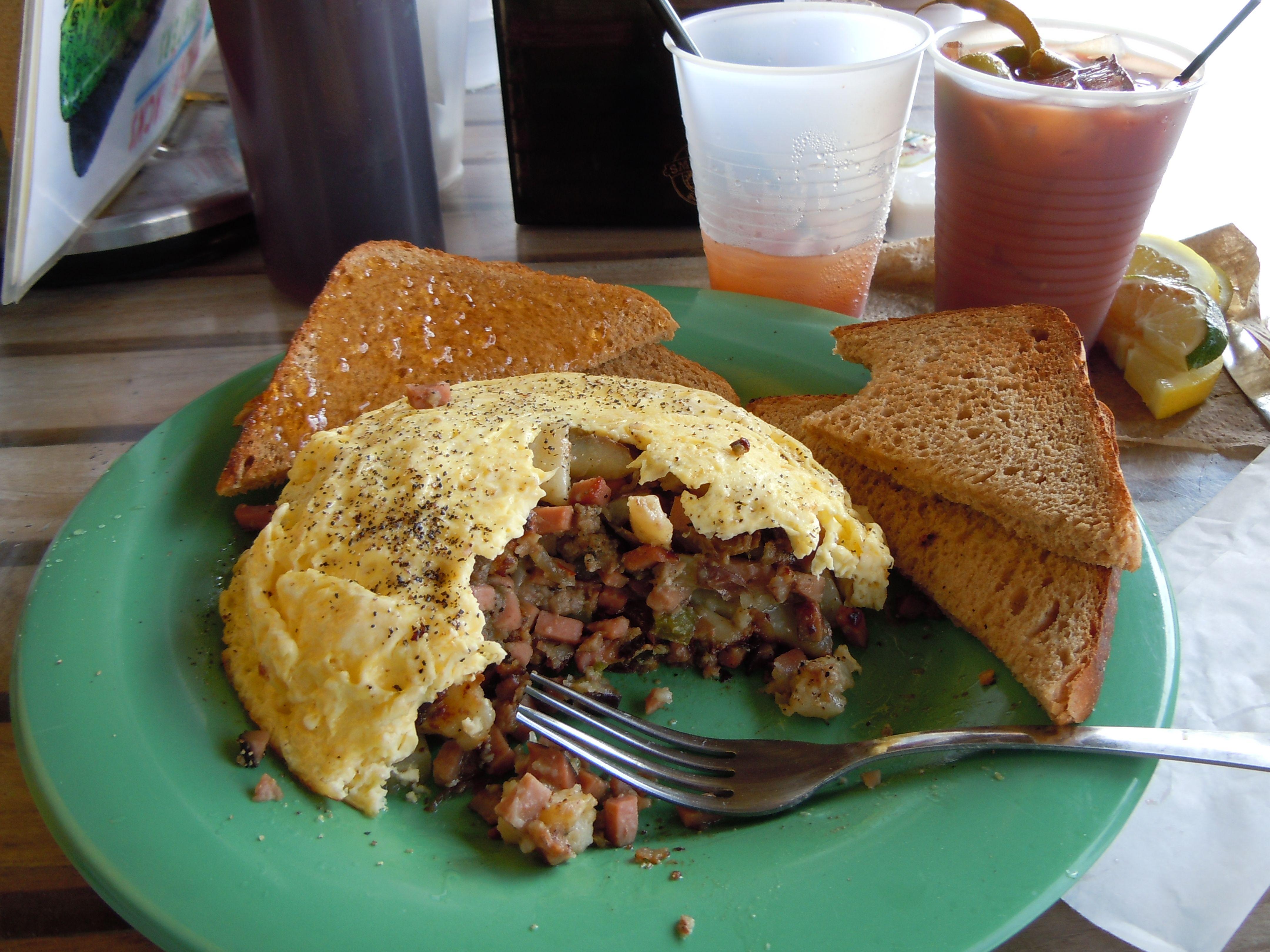 Tacky Jack's breakfast.