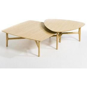 Am Pm Table Basse Carree Louisa Beige Table Basse Triangulaire Table Basse Table En Contreplaque