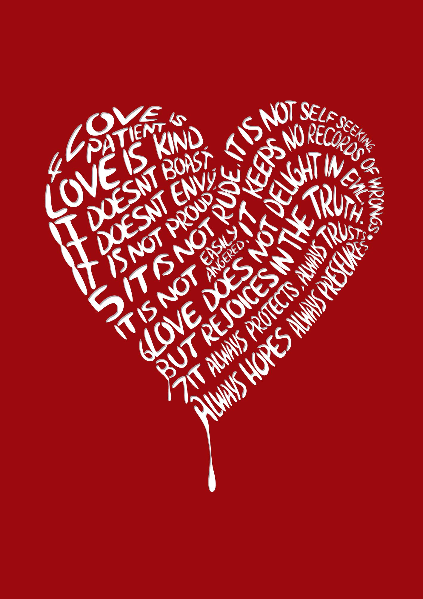 1 Corinthians 13:4-7 Visit- http://cargocollective.com ...