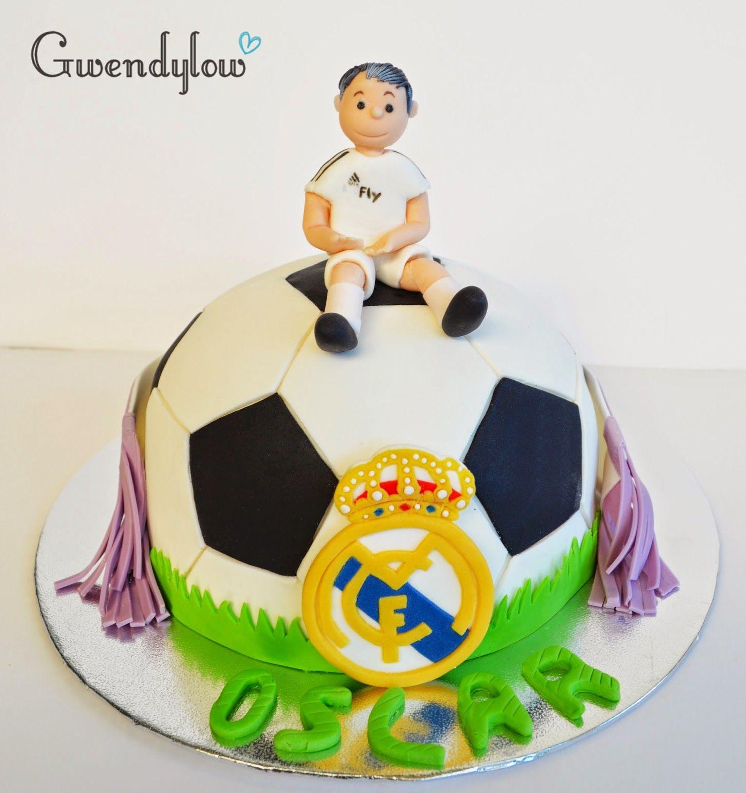 Tarta  Balón de Futbol del Real Madrid - Fondant en 2019  9fcad6a4a7c71