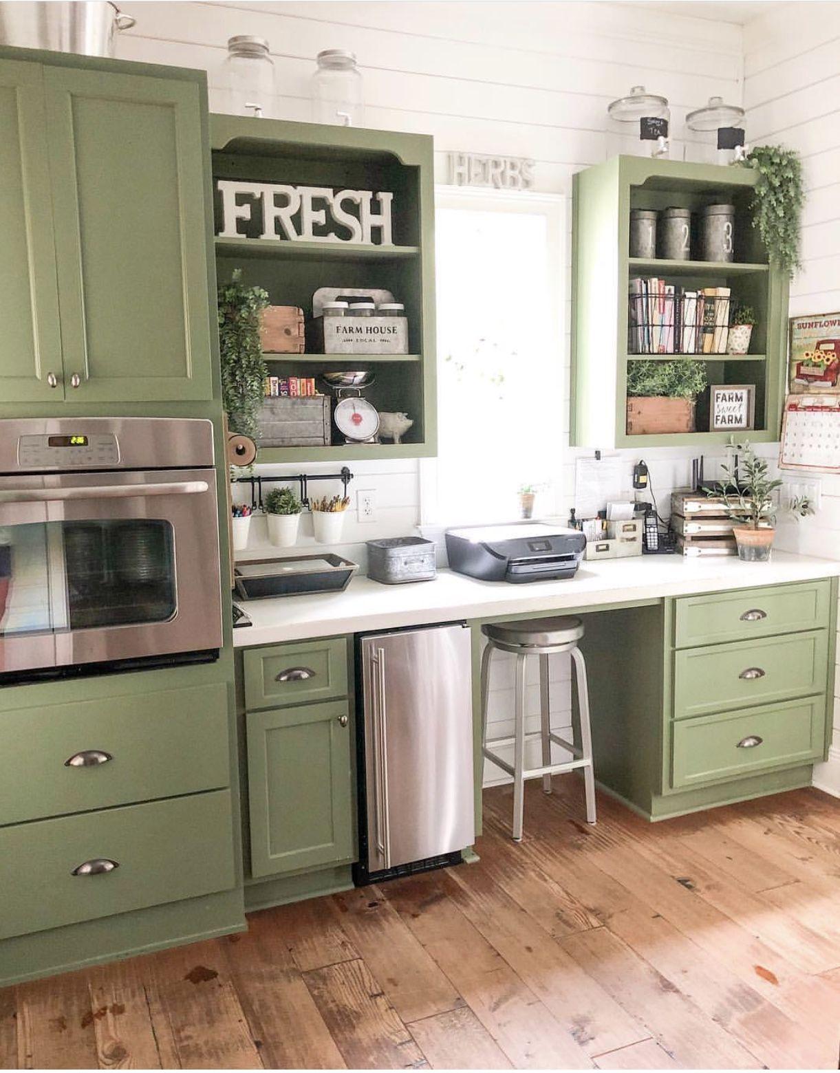 Green Kitchen Kitchen Remodel Home Kitchens Green Kitchen