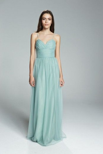 strap bridesmaid dress