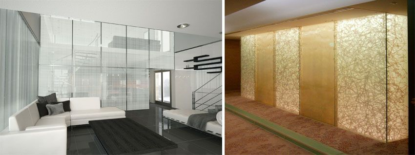 Fabric Mesh Laminated Glass For Interior Decoration With Images