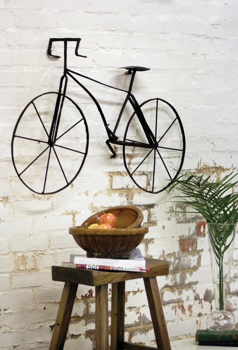 Metal Bicycle Wall Art Deco Objet