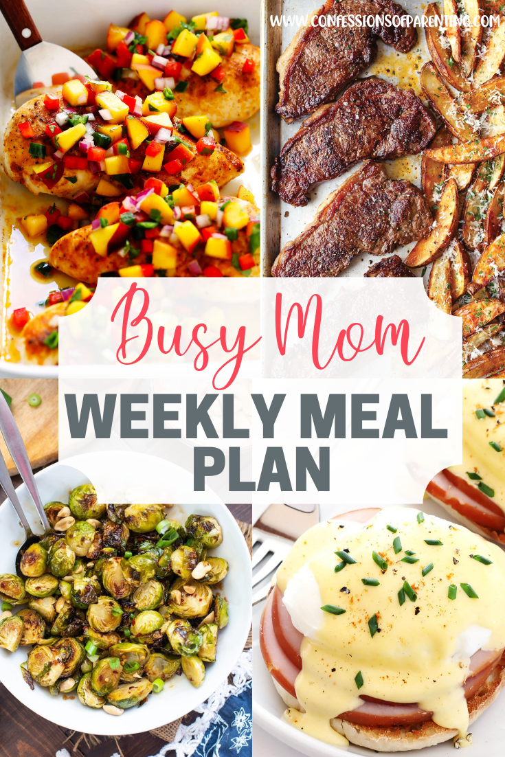 Busy Mom Weekly Meal Plan images