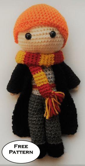 Ron Weasley Harry Potter Free Amigurumi Pattern Crochet | muñecos ...