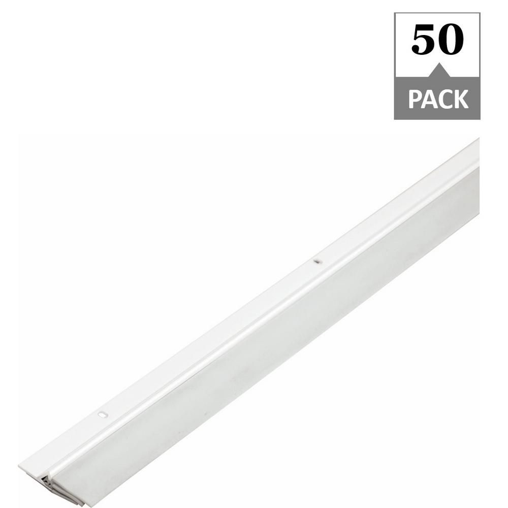Simply Conserve Triple Seal 2 1 8 In X 36 In White Aluminum Door