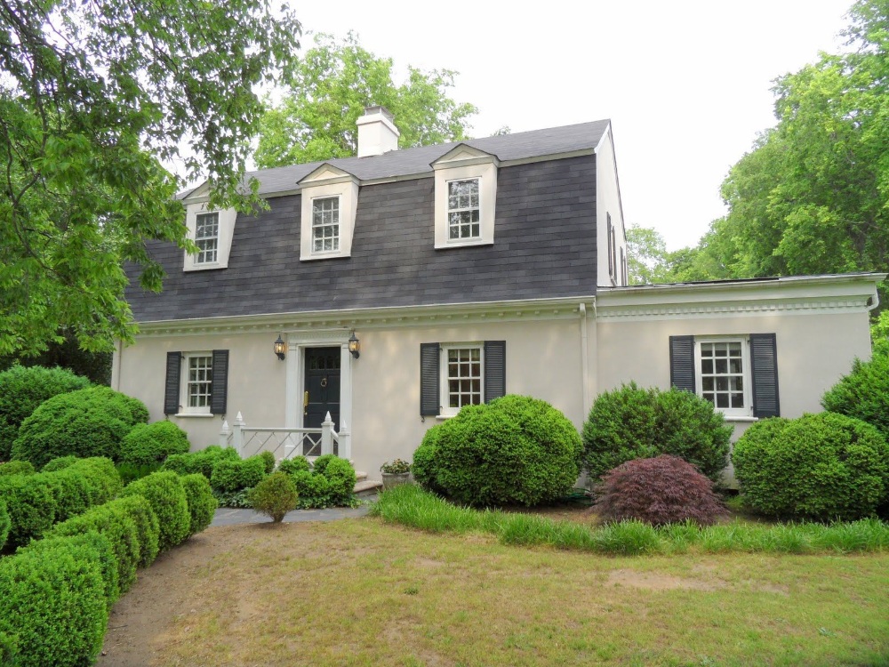 White Dutch Colonial Flat Roof Google Search In 2020 Dutch Colonial Exterior Dutch Colonial Homes Colonial Exterior
