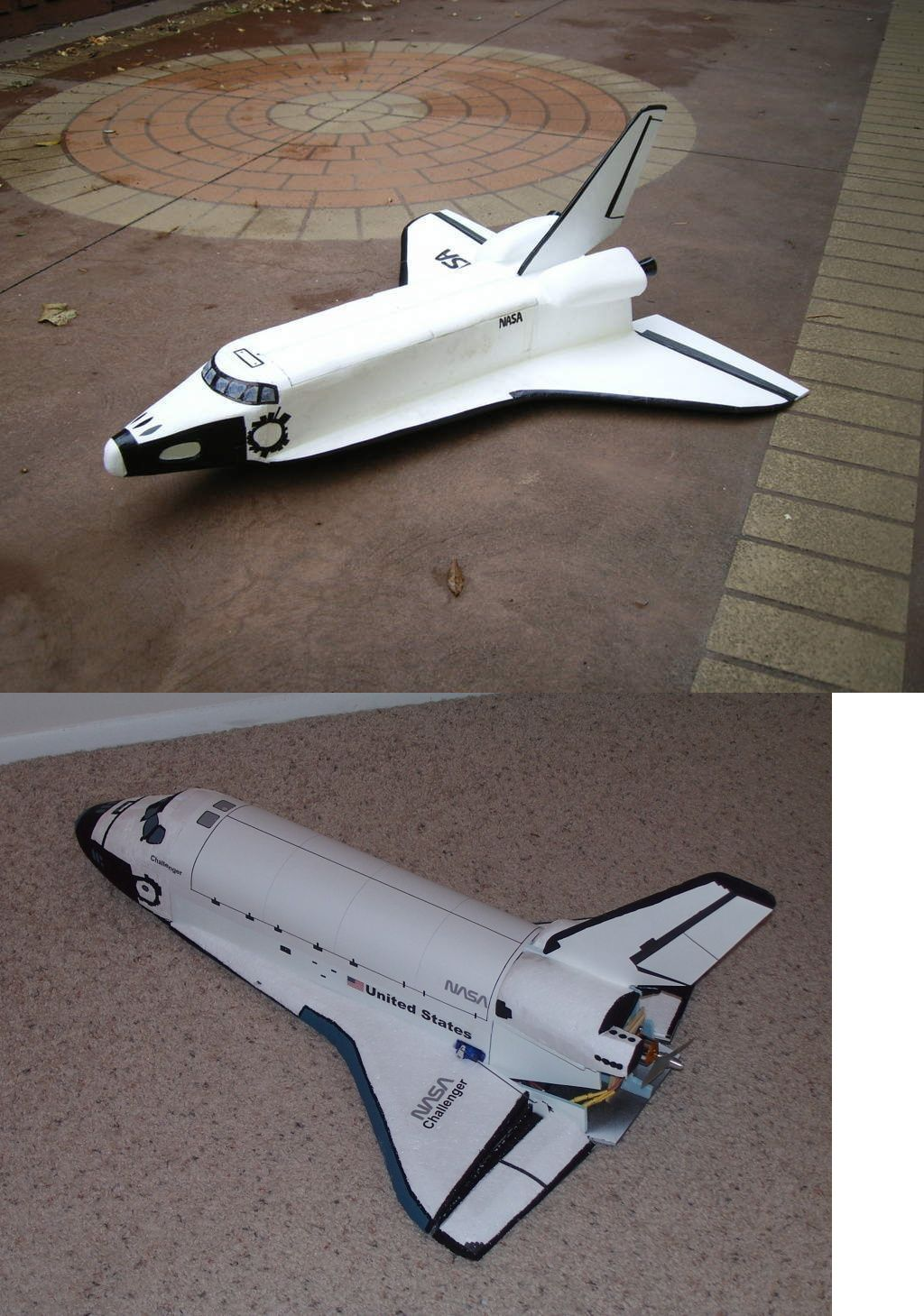 RC Plans Templates and Manuals 182212: Space Shuttle Scratch