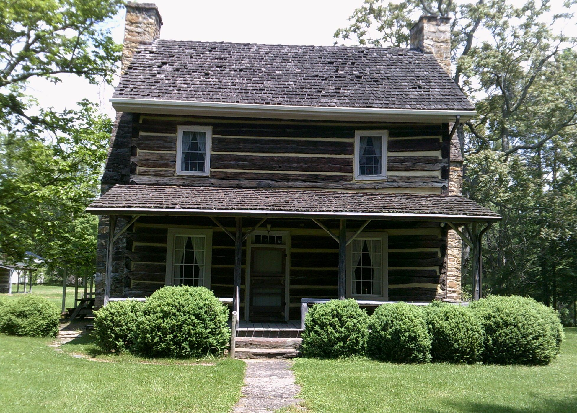 Graham house is a historic log cabin located on west for Cabins 1770