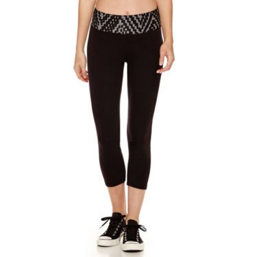 jcp  city streets® cropped yoga pants  cropped yoga