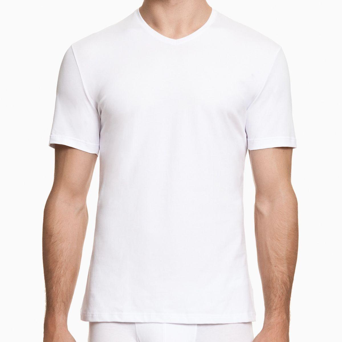 Lot de 2 Tee-Shirt Blanc Adamo Grande Taille Col V