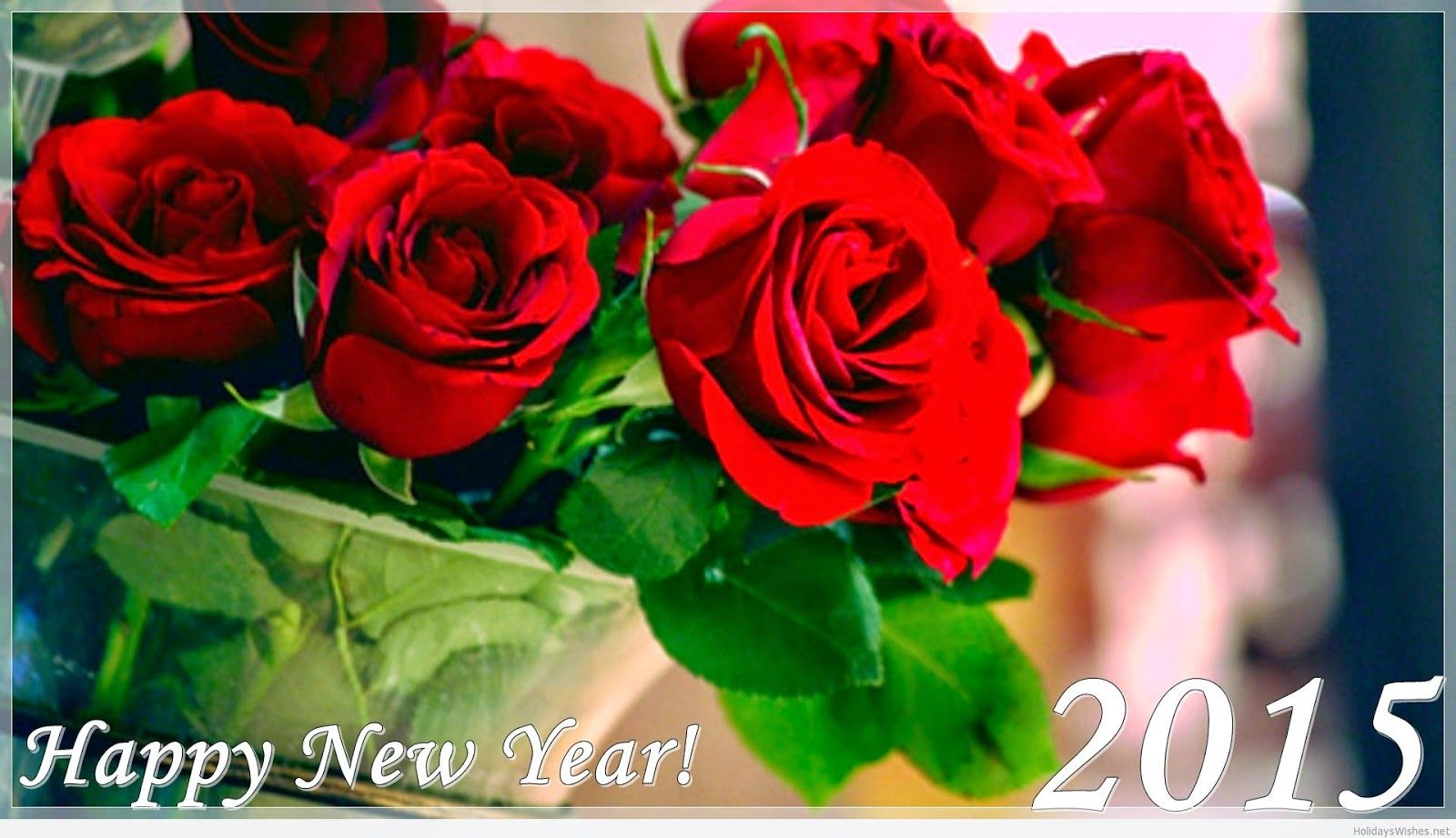 happy new year 2015 roses hd wallpaper