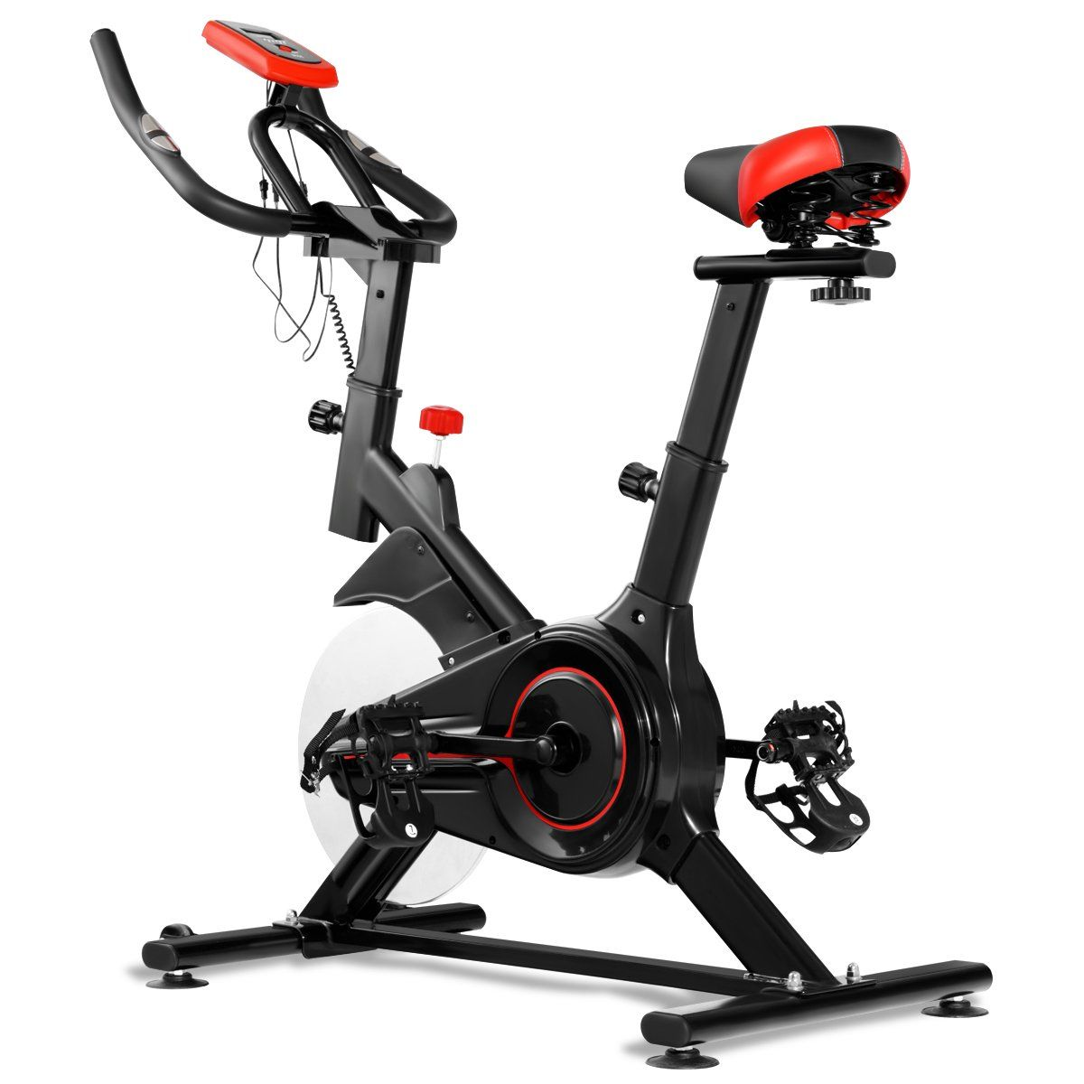 Gymax Exercise Cycling Bike Indoor Fitness Stationary Bicycle For Home Floor Gym Workout Heart Pulse Cardio T In 2020 Biking Workout Indoor Cycling Bike Indoor Workout