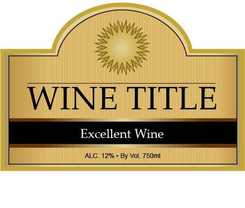 editable label  pdf great for making custom wine bottle