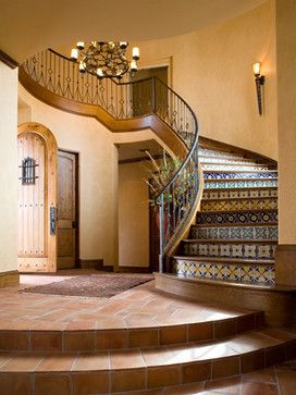 Talavera stairfronts ~ Capture the spirit of authentic Mexico at http://www.lafuente.com/Tile/Talavera-Tile/