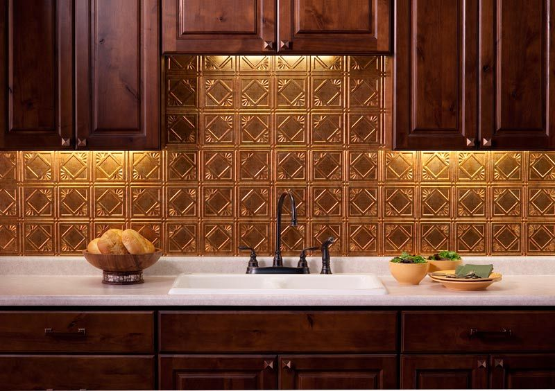 Fasade Backsplash Ideas Part - 20: Traditional 4 In Muted Gold Backsplash.